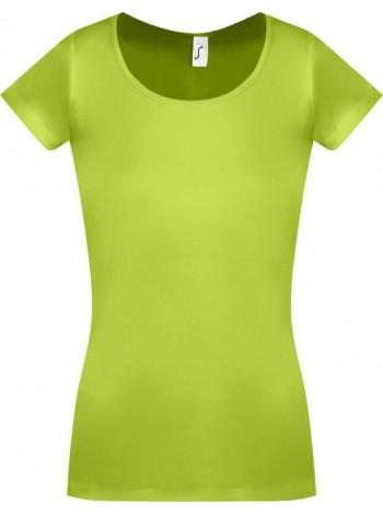 Футболка женская MOODY зеленое яблоко оптом
