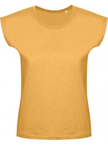 Футболка женская SCOOP 150 горчичино-желтая оптом