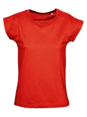 Футболка женская SCOOP 150 оранжево-красная оптом
