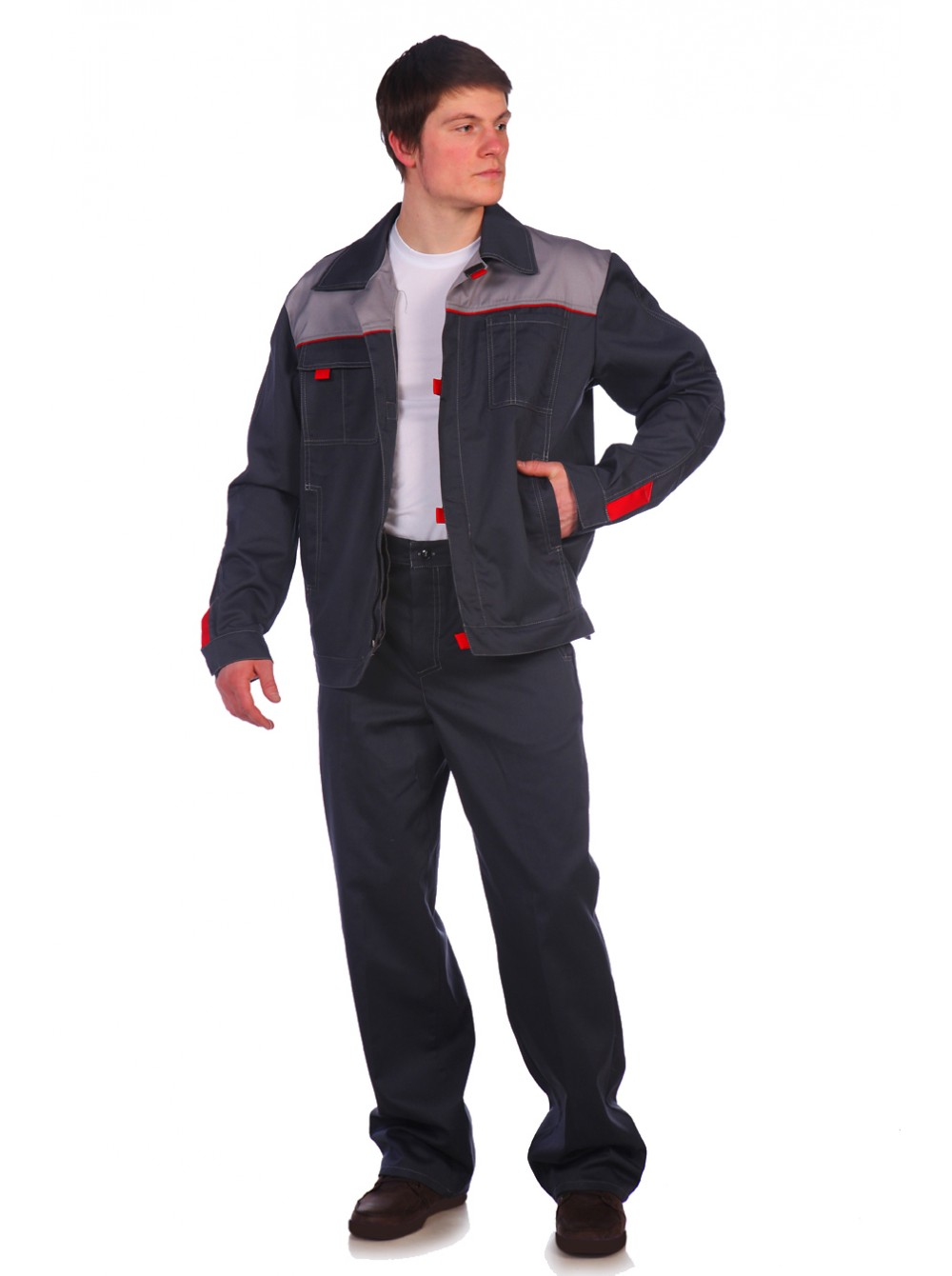 Рабочий костюм Фаворит 1 серый купить оптом 960 руб. 6109283c6675b