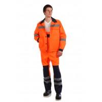 Рабочий костюм Магистраль оранжевый