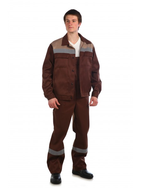 Рабочий костюм Оптимал коричневый