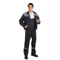 Рабочий костюм Оптимал темно-серый