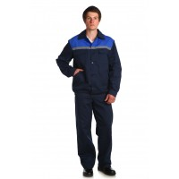 Рабочий костюм Стандарт 2 Саржа темно-синий