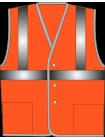 Жилет сигнальный SV612-сетка оранжевый оптом