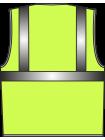 Жилет сигнальный SV62-сетка лимонный оптом