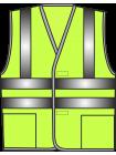 Жилет сигнальный SV83-Оксфорд лимонный оптом