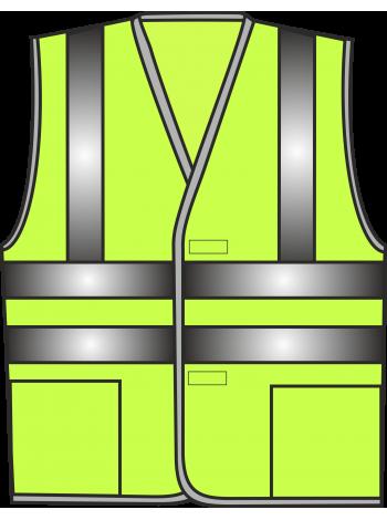Жилет сигнальный SV83-сетка лимонный оптом
