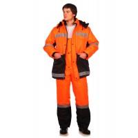 Рабочий костюм Метеор оранжевый с черным