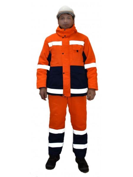 Рабочий костюм Метеор оранжевый с синим