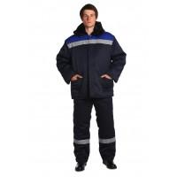 Рабочая куртка Бригадир темно-синяя