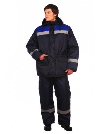 Рабочая куртка Стандарт темно-синяя   оптом