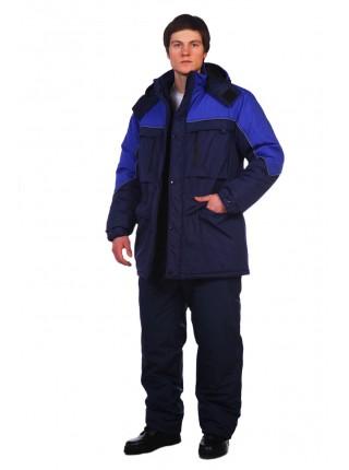 Рабочая куртка Вега темно-синяя
