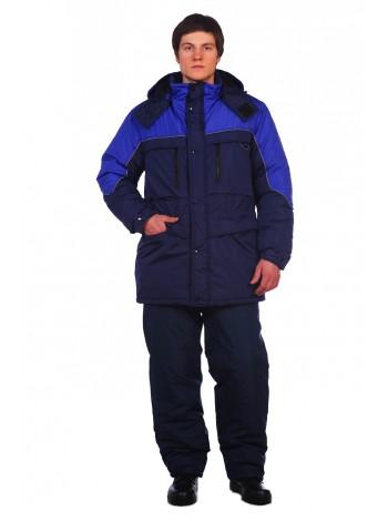 Рабочая куртка Вега темно-синяя оптом