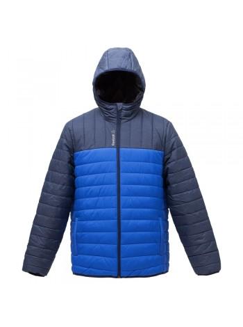 Куртка мужская Outdoor, темно-синяя с ярко-синим оптом