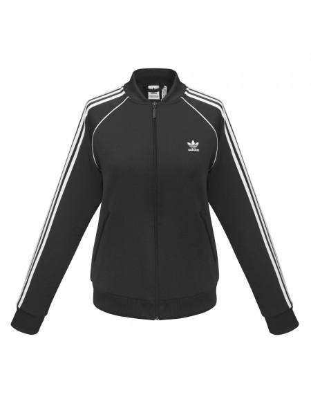 Куртка тренировочная женская на молнии SST TT, черная