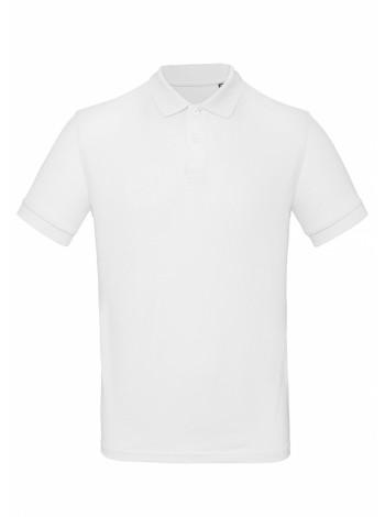 Рубашка поло мужская Inspire белая оптом