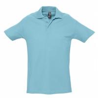 Рубашка поло мужская SPRING 210, бирюзовая