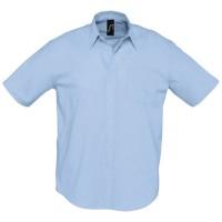 Рубашка мужская с коротким рукавом BRISBANE, голубая