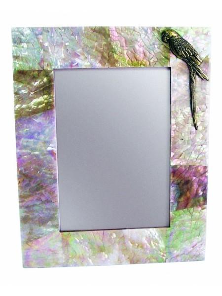 Фоторамка с попугаем, цветная