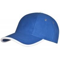 Бейсболка Unit Trendy, ярко-синяя с белым