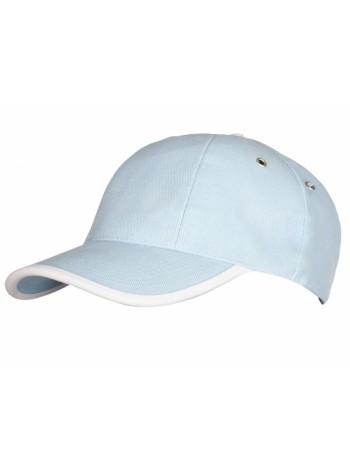 Бейсболка Unit Trendy, голубая с белым оптом