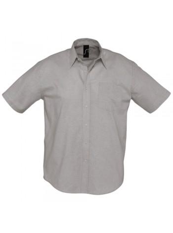 Рубашка мужская с коротким рукавом BRISBANE, серая оптом