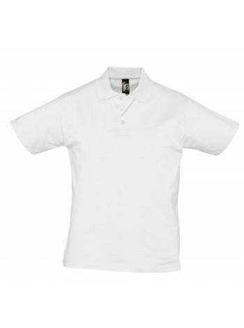 Рубашка поло мужская Prescott Men 170, белая оптом