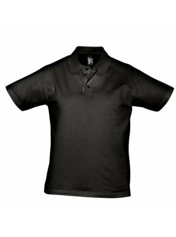 Рубашка поло мужская Prescott Men 170, черная оптом