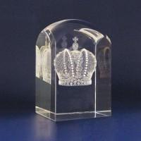 Стела с 3D гравировкой «Корона»