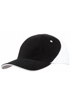 Бейсболка UNIT SMART, черная с белым