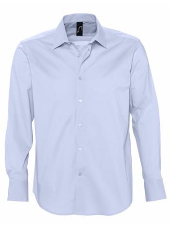 Рубашка мужская с длинным рукавом BRIGHTON, голубая оптом
