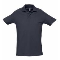 Рубашка поло мужская SPRING 210 темно-синяя (navy)