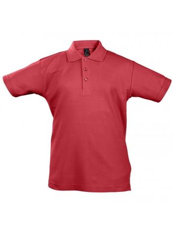 Рубашка поло детская Summer II Kids 170, красная оптом