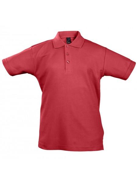 Рубашка поло детская Summer II Kids 170, красная