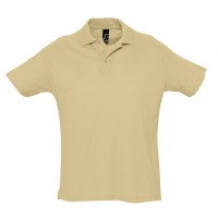 Рубашка поло мужская SUMMER 170, бежевая