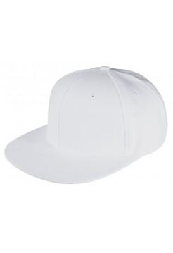 Бейсболка Unit Snapback с прямым козырьком, белая