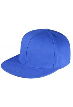 Бейсболка Unit Snapback с прямым козырьком, ярко-синяя