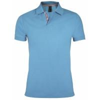 Рубашка поло мужская PATRIOT 200, голубая