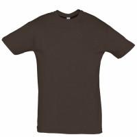 Футболка Regent 150, темно-коричневая (шоколад)