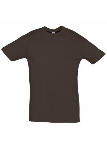 Футболка Regent 150, темно-коричневая (шоколад) оптом