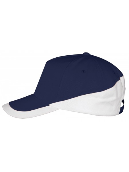 Бейсболка BOOSTER, темно-синяя с белым