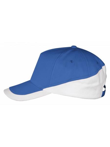 Бейсболка BOOSTER, ярко-синяя с белым