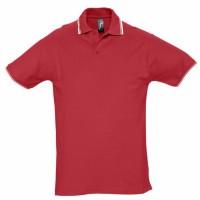 Рубашка поло мужская с контрастной отделкой PRACTICE 270, красный/белый