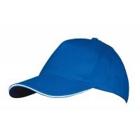 Бейсболка LONG BEACH, ярко-синяя с белым