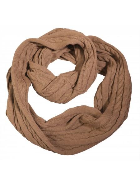 Шарф-снуд Comfort, светло-коричневый