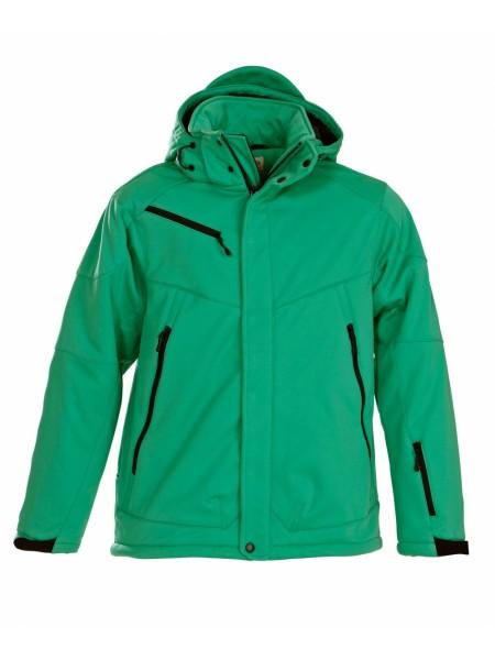 Куртка софтшелл мужская Skeleton, зеленая