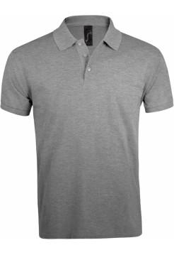 Рубашка поло мужская PRIME MEN 200 серый меланж