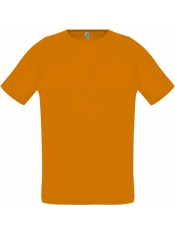Футболка унисекс SPORTY 140, оранжевый неон оптом