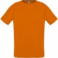 Футболка унисекс SPORTY 140, оранжевая